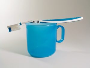 toothbrush on a mug
